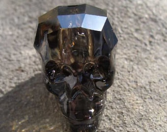 Swarovski-5750-skull bead-crystal silver Night (001 SINI)-19 mm