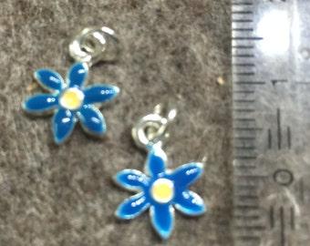 Charm/Pendant-enamelled florets-10 mm