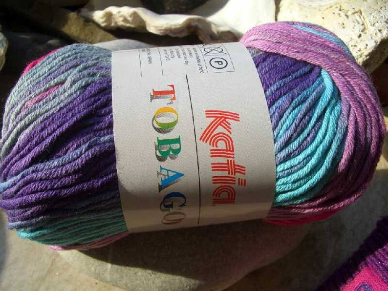 in 2 colors gradient yarn 100/% cotton TOBAGO spain fibres 50gram balls Remaining items katia