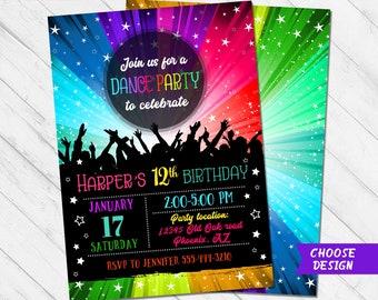 Disco Party Invite Etsy