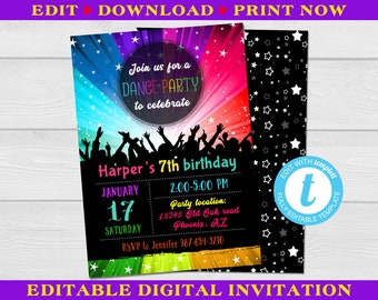 Party invitation template | Etsy