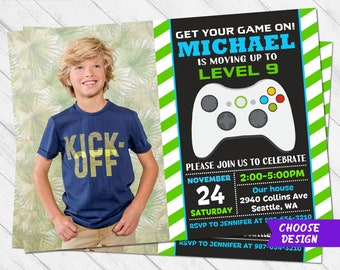 Video Game Invitations Templates