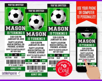 soccer birthday invitations etsy