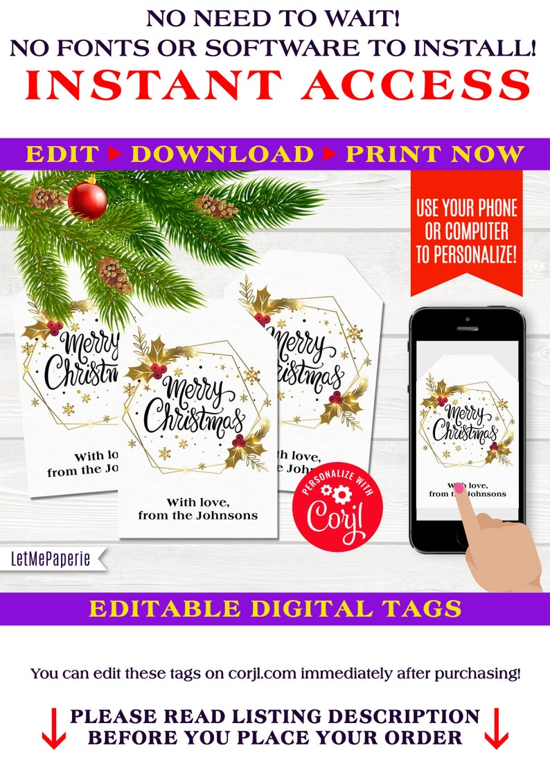 photograph regarding Printable Christmas Tags Template identified as Xmas wreath tags template, editable Xmas present tag, printable Xmas tags, Merry Xmas Tags, edit you, Prompt Obtain