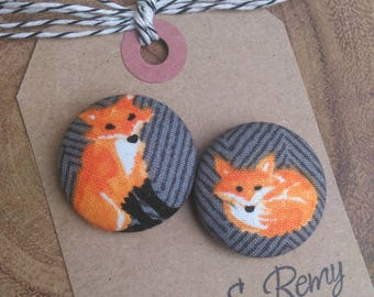 Fox Needle Minder, Cross Stitch, Red Fox, Needleminder, Scout and Remy 2 Piece Reversible, Embroidery, Sewing, Gift