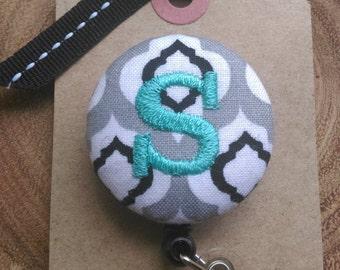 Monogram Badge Reel- Badge Holder,Retractable Badge Holder,Scout and Remy, RN, LPN, OT