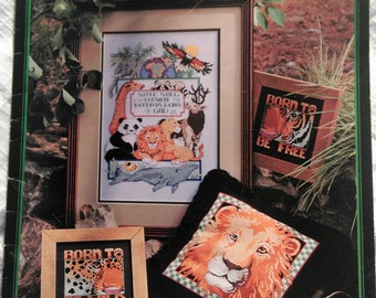 Leisure Arts 'For Earth's Sake' Cross Stitch Charts - 18 Animal Designs By Linda Gillum, Gifts for Her