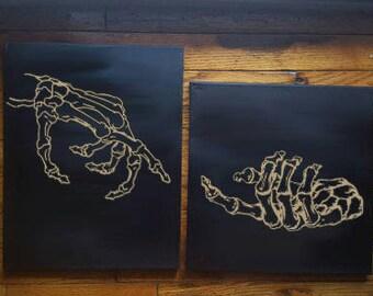 Gentle Skeleton Hands Canvas fc9547d56d74