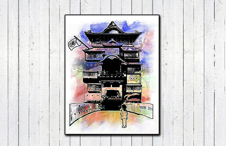 Spirited Away 11x14 Print Watercolor Prints Hayao image 0