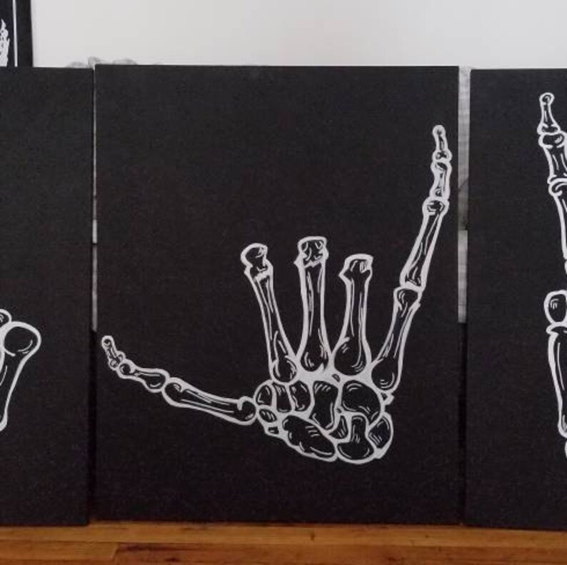 Shaka Hand Canvas Hang Loose Funny Sign Gag Gifts image 0
