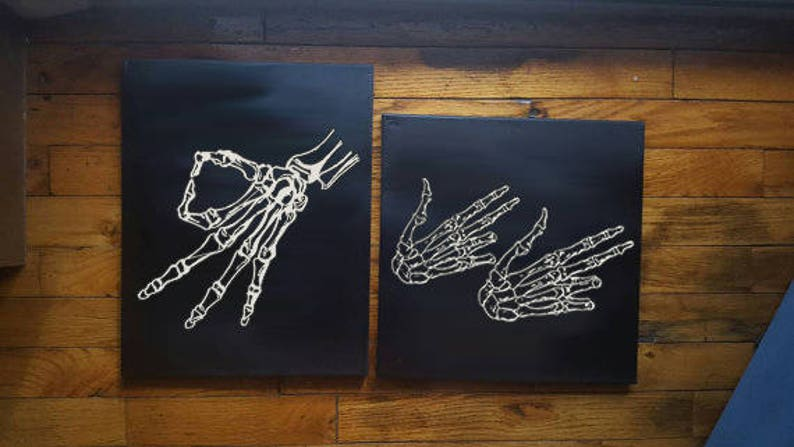 Meme Hands Canvas Skeleton Finger Guns Circle Hand Game image 0