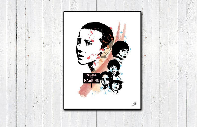 Stranger Things Print Eleven Will Byers Mileven Millie image 0