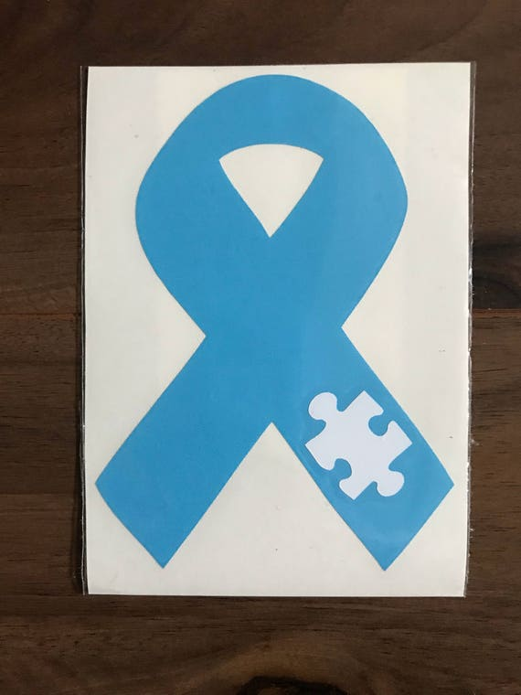 25 Autism Awareness Puzzle Ribbon Decals 25 Decals - Wholesale Use on your Helmet or Vehicle