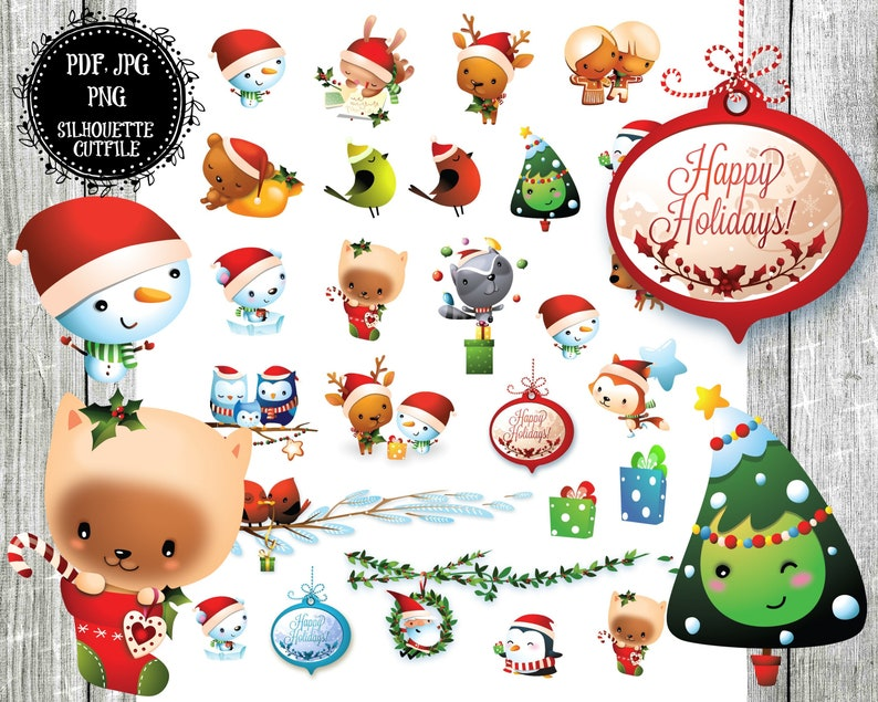 photo relating to Printable Christmas Stickers referred to as Printable Xmas Stickers, Xmas Animal Planner Stickers, Xmas Planner, Planner Extras, Xmas Period, Electronic Stickers