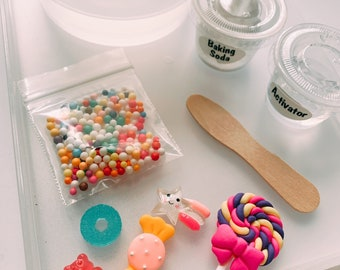 DIY Slime Kit- Kids Craft- Slime Party Favors- Birthday Party Kit- Slime Supplies