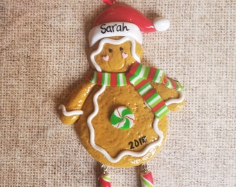 personalized christmas ornament personalized gingerbread ornament personalized ornament personalized gift gift for a little girl - Gingerbread Christmas Ornaments