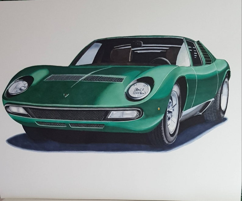 Disegno Lamborghini Miura Etsy