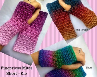 Magical Fingerless Mitts - sparkly gloves