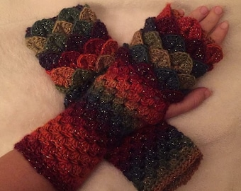 Luxury Dragon scales fingerles gloves mittens