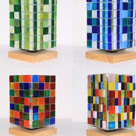 110Pcs//Pack Assorted Colors Square Glass Mosaic Tiles For DIY Crafts Supplies