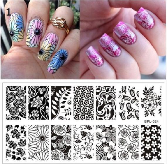 Nail Art Stamping Square Stamping PlatesStamp Template | Etsy