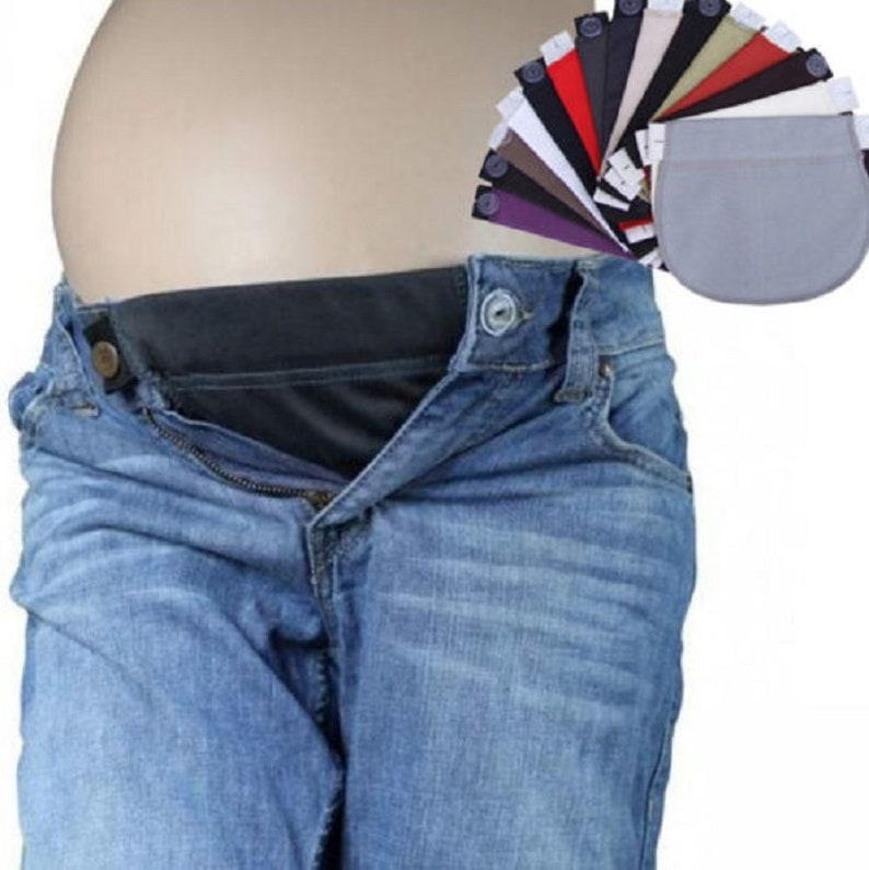 5b2e5810a6049 Maternity Pregnancy Waistband Belt ADJUSTABLE Elastic Waist   Etsy