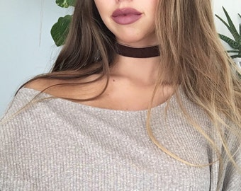 Brownie Velvet Choker Necklace