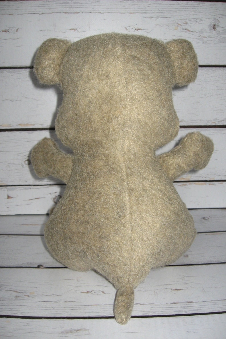 Ted Teddy BearFelt ToysMr Ted BearStuffed Bear by HummingbirdGoods  https:www.etsy.comshopHummingbirdGoods Mr