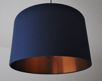 """Lampshade """"Navy-Copper"""""""