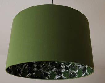 "Lampshade ""Monstera-Olive green"""