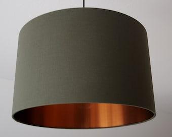 "Lampshade ""Khaki-Copper"""