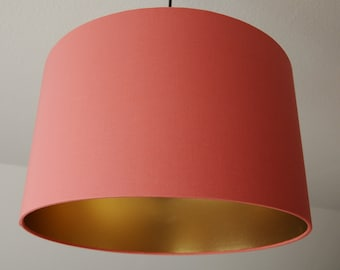 """Lampshade """"Coral-gold"""" (coral)"""