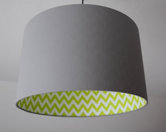 "Lampshade ""Stonegray-lime green"""
