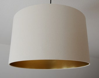 """Lampshade """"Ecru-gold"""" (cream)"""