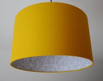 """Lampshade """"Curry Yellow-scribble"""""""