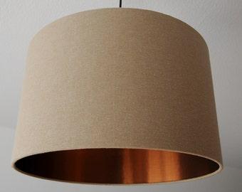 "Lampshade ""Beige-Copper"""