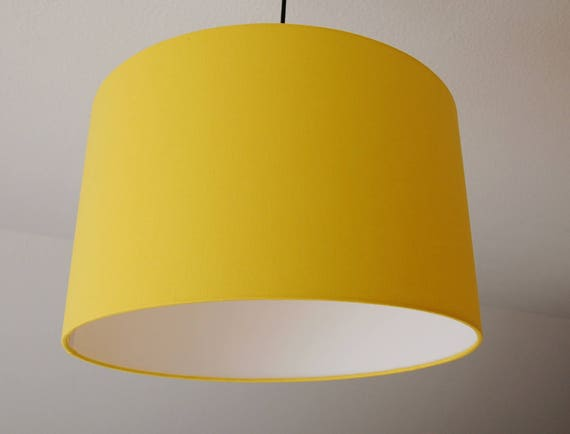 abat jour jaune citron etsy. Black Bedroom Furniture Sets. Home Design Ideas