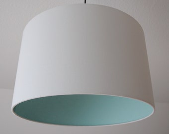 """Lampshade """"White-mint"""""""