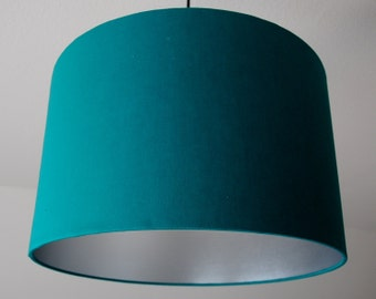 """Lampshade """"green-turquoise-Silver"""""""