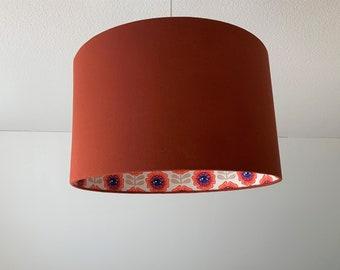 "Lampshade ""Candy eye flower-terracotta"""