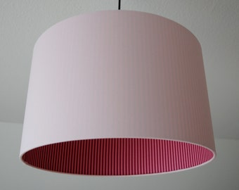 """Lampshade """"Rosé-striped"""""""
