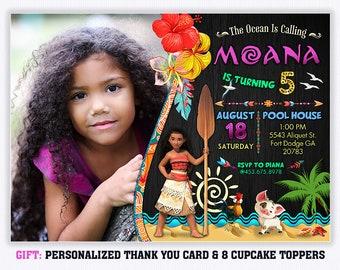 Moana Birthday Invitation Etsy