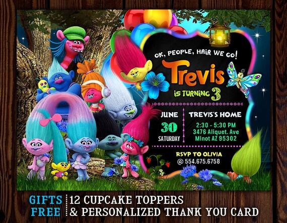 Trolls Invitation Birthday