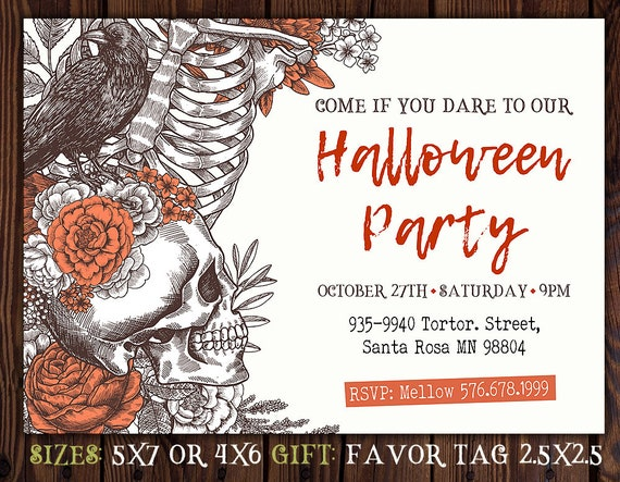 Halloween Birthday Party Invitation Spooky