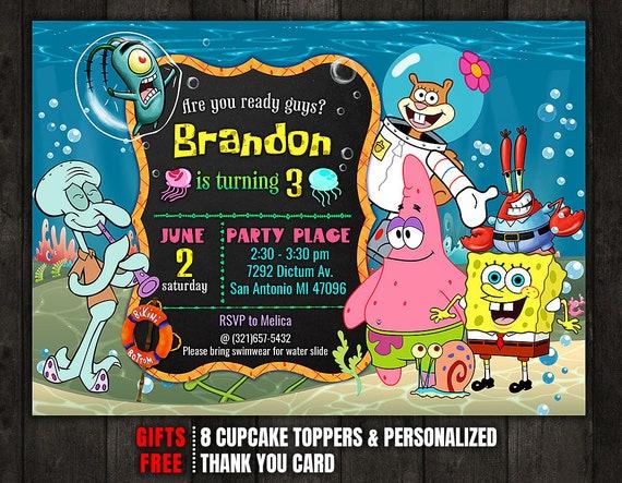 SpongeBob Invitation Spongebob Birthday