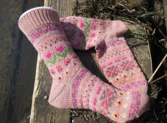 Knitted socks size 39  40