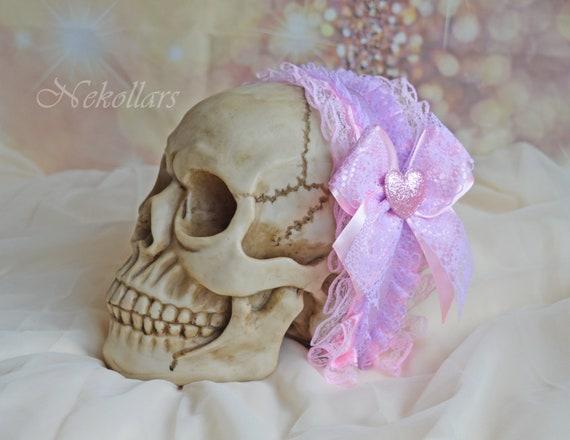 cute collar necklace pastel harajuku fairy kei girly accessories for cosplay pink purple MtO Lolita kawaii choker Country princess