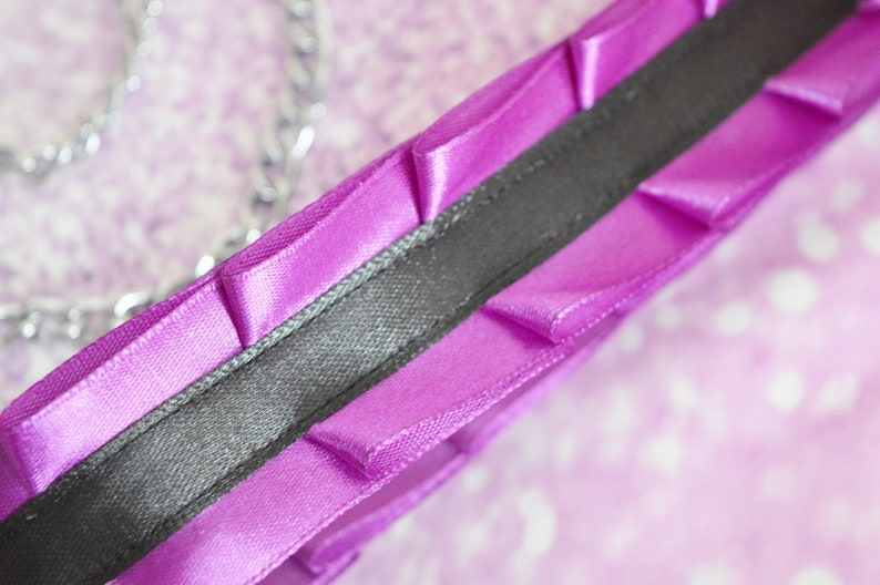 bdsm proof leash nekollars ddlg daddy kink princess kitten play gear by Nekollars Kittenplay leash Made to Order usable for dogs too