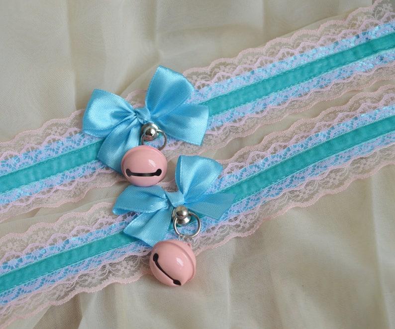 Girlyblue Made to Order Kitten play collar daddy kink ddlg cgl princess fairy kei kawaii cute lolita pet pastel choker neko costume
