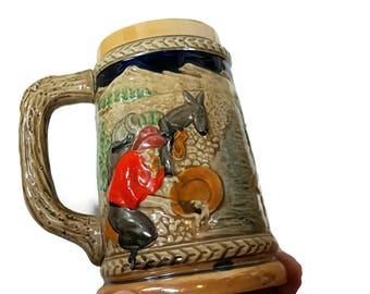 VINTAGE BEER STEIN Souvenir Virginia City Nevada Bucket of Blood Saloon Novelty Gift Man Cave Barware Old West Beer Mug